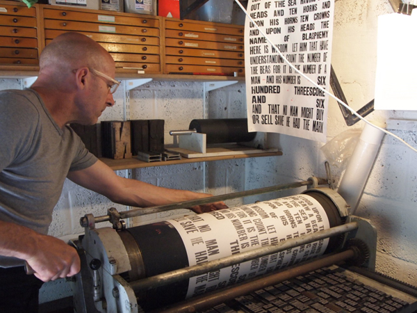 Carl Middleton - on press