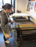 Work in progress on the Weston proofing press.